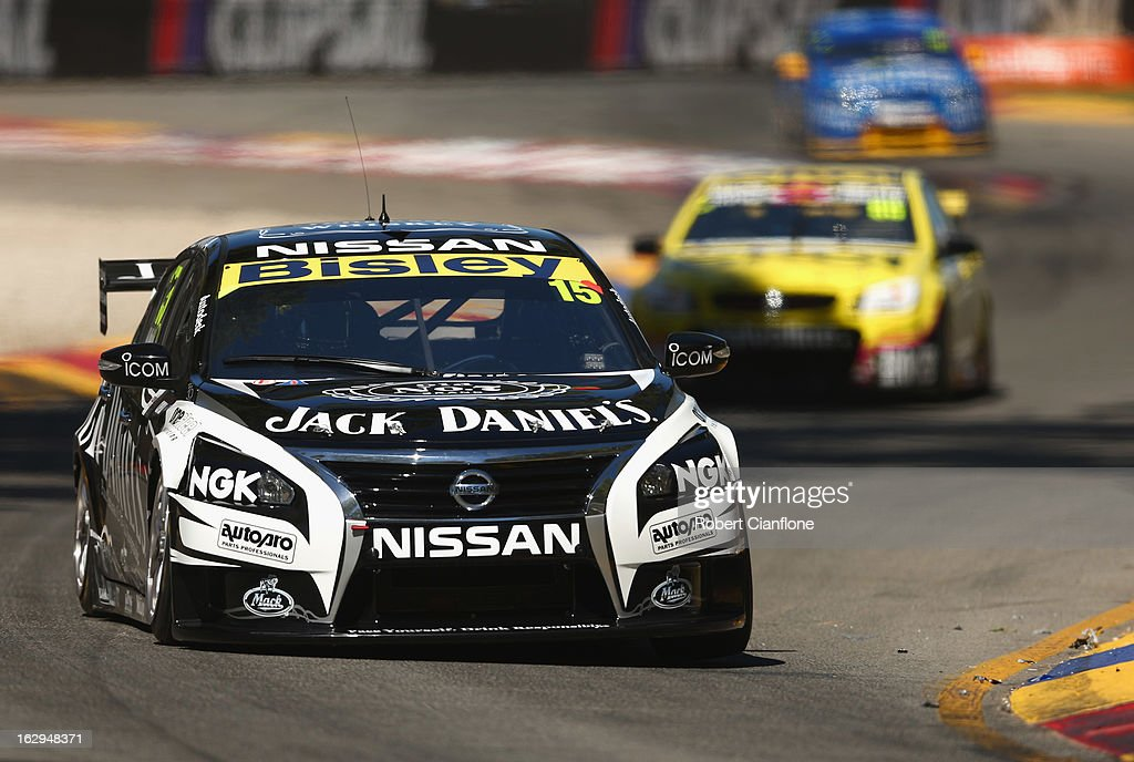 Rick Kelly drives the #15 Jack Daniel's Racing Nissan during race one of the Clipsal 500, which is round one of the V8 Supercar Championship Series, at the Adelaide Street Circuit on March 2, 2013 in Adelaide, Australia.