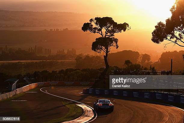 Rick Kelly drives the Nismo Athlete Global Team Nissan GTR Nismo GT3 during the Bathurst 12 Hour Race at Mount Panorama on February 7 2016 in...