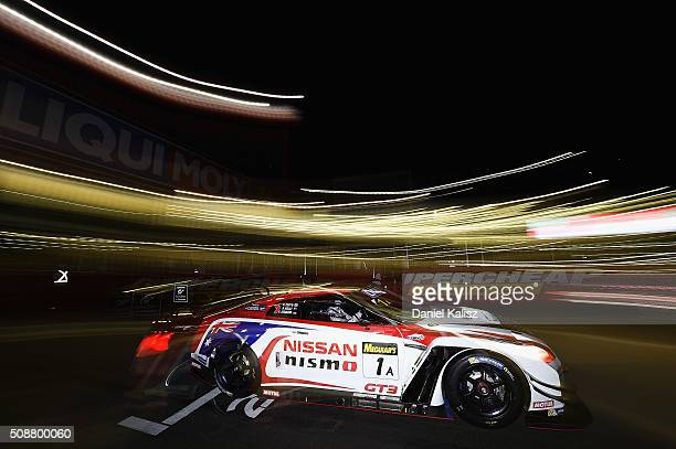 Rick Kelly drives the Nissan GTR Nismo GT3 of the Nismo Athlete Global Team during the Bathurst 12 Hour Race at Mount Panorama on February 7 2016 in...