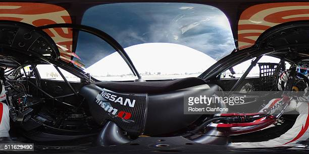 Rick Kelly drives the Nissan Motorsport Altima during a V8 Supercars test day at Winton International Raceway on February 22 2016 in Benalla Australia