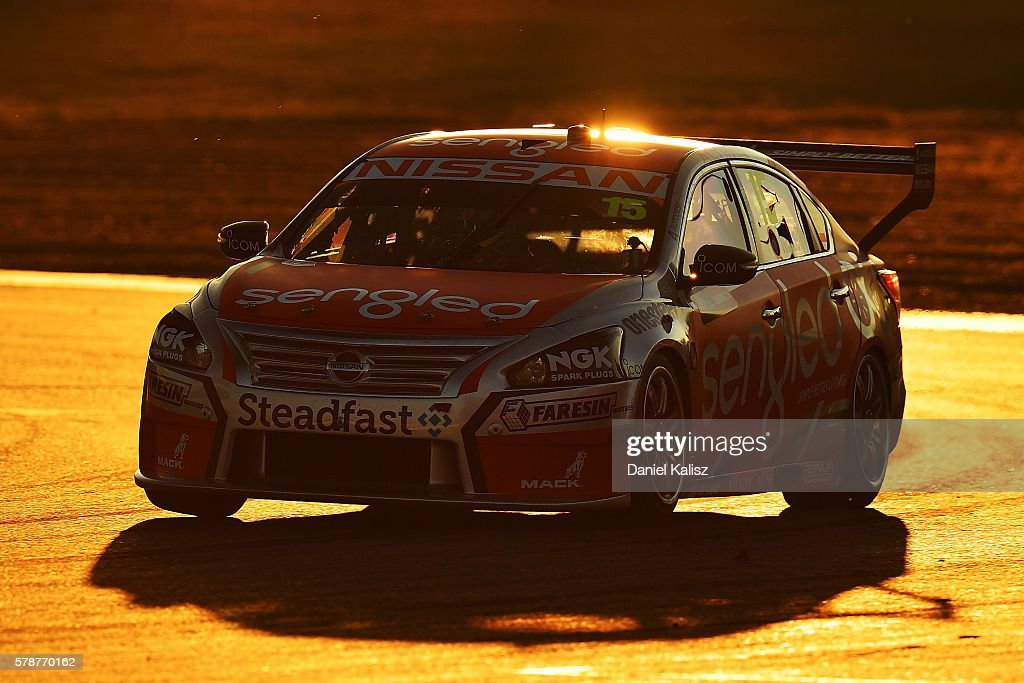 Rick Kelly drives the Nissan Motorsport Nissan Altima during practice for the V8 Supercars Ipswich Supersprint on July 22 2016 in Ipswich Australia