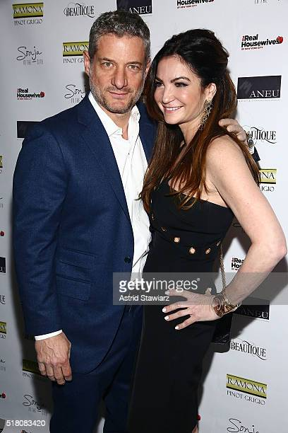 Rick Leventhal and Beth Shak attend 'The Real Housewives Of New York City' Season 8 Premiere Party at Beautique on March 29 2016 in New York City
