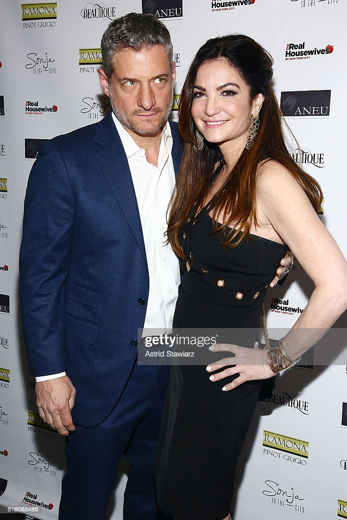Rick Leventhal and Beth Shak attend 'The Real Housewives Of New York City' Season 8 Premiere Party at Beautique on March 29, 2016 in New York City.