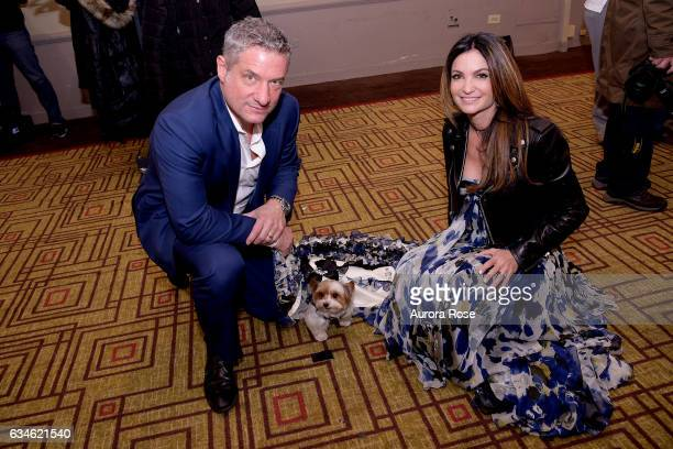 Rick Leventhal Mila and Beth ShakLeventhal attend Beth ShakLeventhal Awarded NY Pet Fashion Show Humanitarian Award at Hotel Pennsylvania on February...