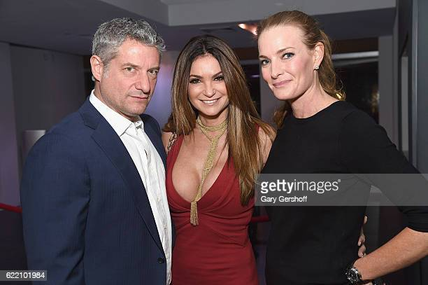 Rick Leventhal professional poker player Beth Shak Leventhal and founder CEO Luxury Wine Co Melissa McAvoy attend Carbon Poker hosted by Manhattan...