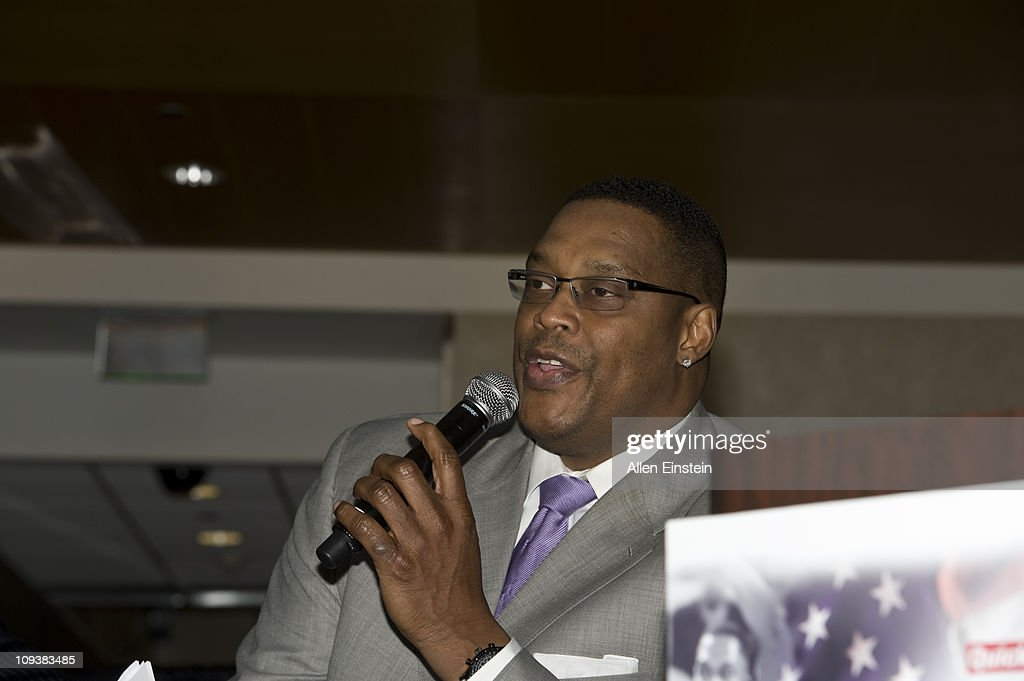 Rick Mahorn Detroit Pistons legend speaks to high school students at the Detroit Pistons Quicken Loans and Fathead 6th Annual Know Your Black History...