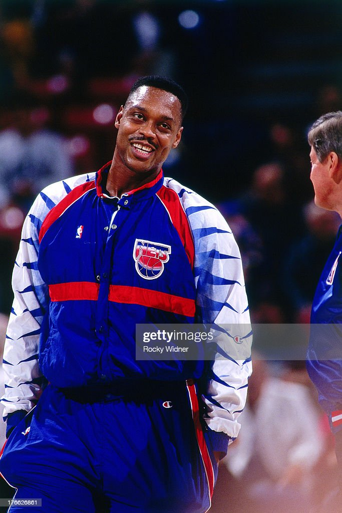 Rick Mahorn of the New Jersey Nets smiles against the Sacramento Kings on November 28 1992 at Arco Arena in Sacramento California NOTE TO USER User...
