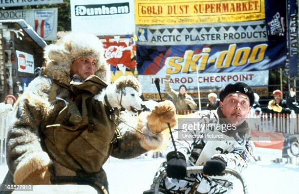 Rick Mayall at a checkpoint in a scene from the film 'Kevin Of The North' 2001