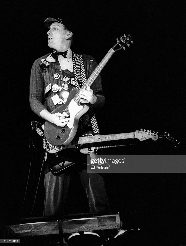 Rick Nielsen of Cheap Trick performs live at the Oakland Coliseum on December 30 1978 in Oakland California