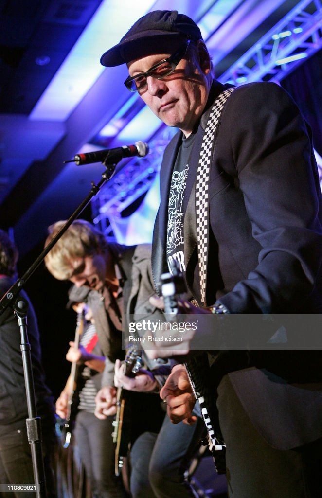 Rick Nielsen of Cheap Trick performs with the Plain White T's at The Recording Academy Honors at the Hyatt Regency in Chicago on October 11 2007