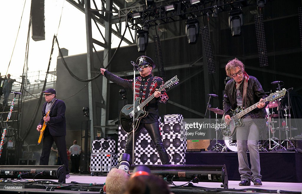 Rick Nielsen, Robin Zander, and Tom Petersson of Cheap Trick performs during 2013 Rock On The Range at Columbus Crew Stadium on May 17, 2013 in Columbus, Ohio.