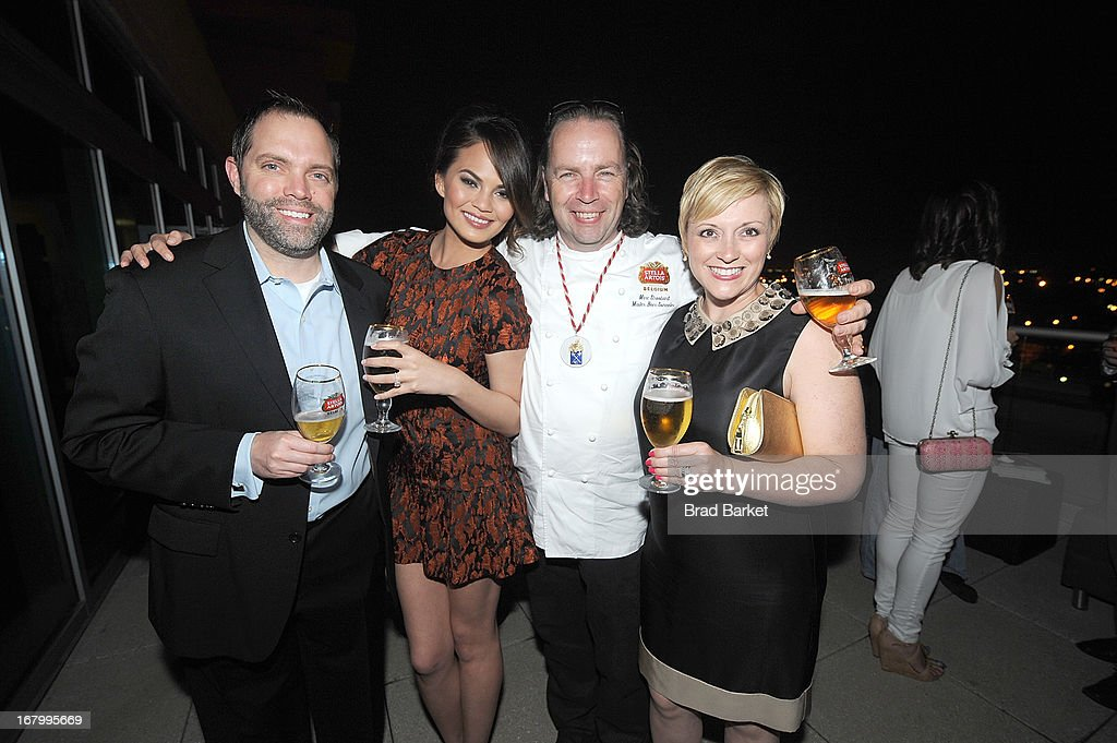 Rick Oleshack, Chrissy Teigen, Marc Stroobandt, and Cindy Oleshack attend the GQ Derby Style Event Presented By Stella Artois on May 3, 2013 in Louisville, Kentucky.