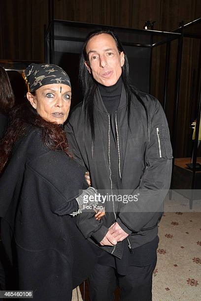 Rick Owens and Michele Lamy attend the Jeanne Lanvin Retrospective At Palais Galliera as part of the Paris Fashion Week Womenswear Fall/Winter...
