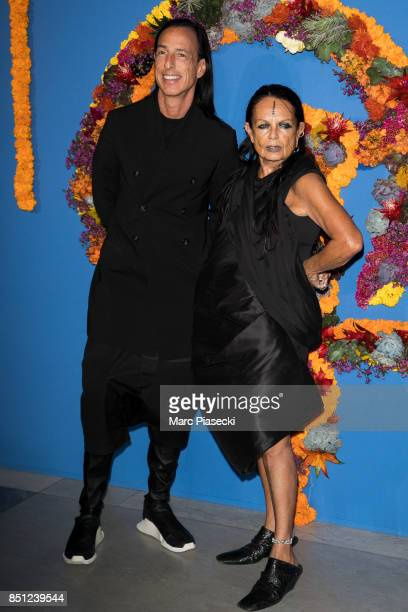 Rick Owens and Michele Lamy attend the Opening Season Gala at Opera Garnier on September 21 2017 in Paris France