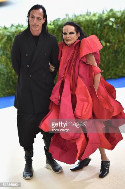 Rick Owens and Michelle Lamy attend the 'Rei Kawakubo/Comme des Garcons Art Of The InBetween' Costume Institute Gala at Metropolitan Museum of Art on...