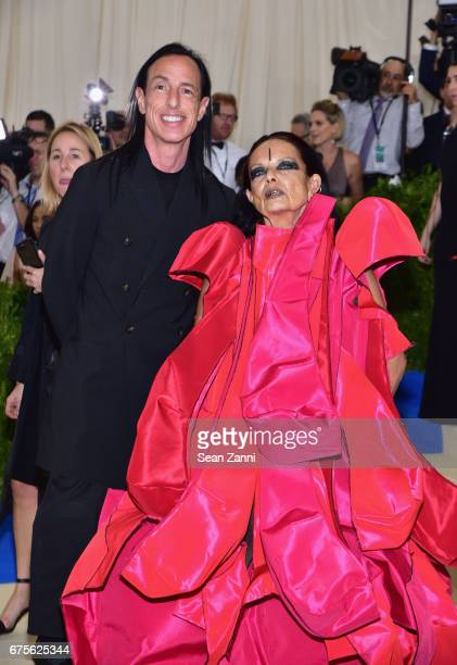 Rick Owens and Michelle Lemay arrive 'Rei Kawakubo/Comme des Garcons Art Of The InBetween' Costume Institute Gala at The Metropolitan Museum on May 1...