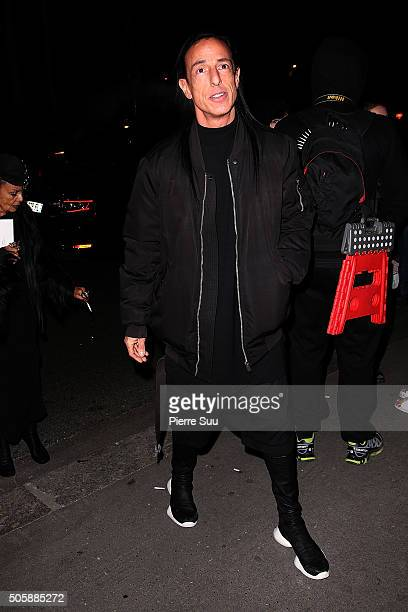 Rick Owens attends the Raf Simons Menswear Fall/Winter 20162017 show as part of Paris Fashion Week on January 20 2016 in Paris France