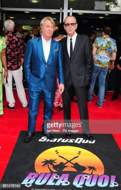 Rick Parfitt and Francis Rossi arrive at the premiere of new film Bula Quo at the Odeon West End cinema in London