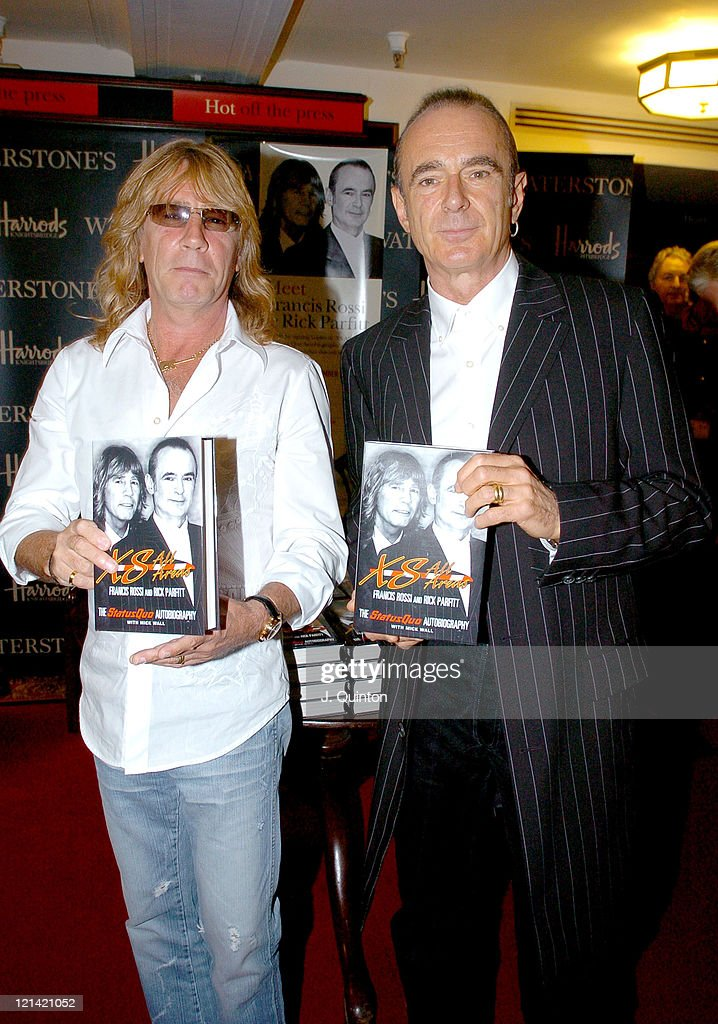 "Francis Rossi and Rick Parfitt Sign Copies of Autobiography ""XS All Areas"""