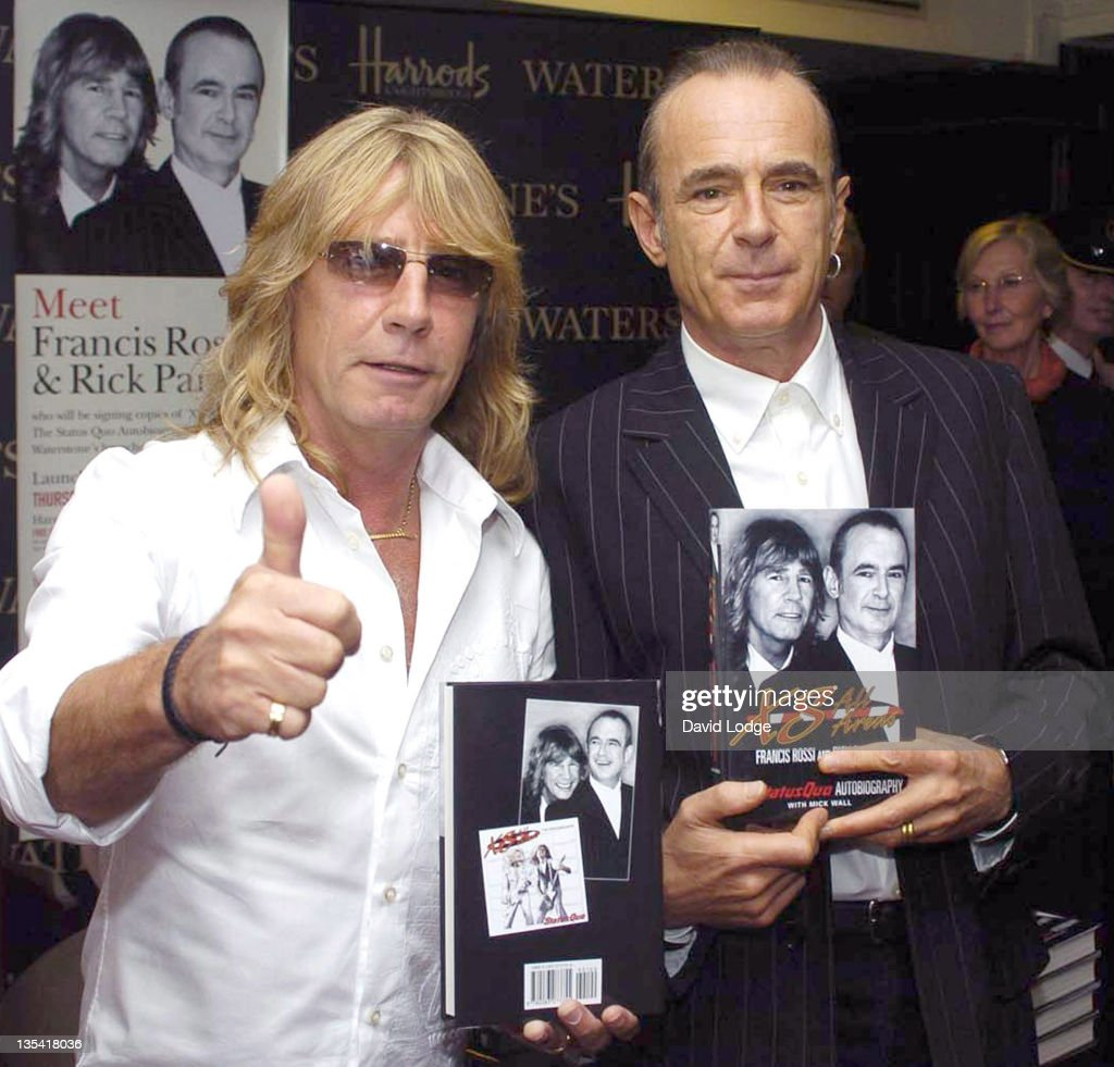 "Rick Parfitt and Francis Rossi Sign Copies of their New Status Quo Autobiography ""XS All Areas"" at Harrods - September 16, 2004"