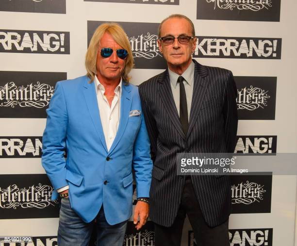 Rick Parfitt and Francis Rossi of Status Quo arriving at the Kerrang Awards at the Troxy in east London