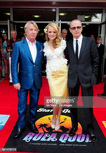 Rick Parfitt Laura Aikman and Francis Rossi arrive at the premiere of new film Bula Quo at the Odeon West End cinema in London