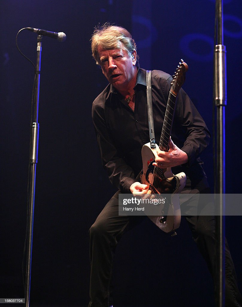 Rick Parfitt of Status Quo performs at Quofestive at the BIC on December 9, 2012 in Bournemouth, England.
