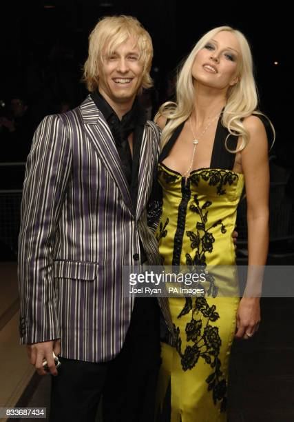 Rick ParfittJnr and Emma Noble arrive for the LaurentPerrier Pink Party in aid of Help A London Child at the Sanderson Hotel in central London
