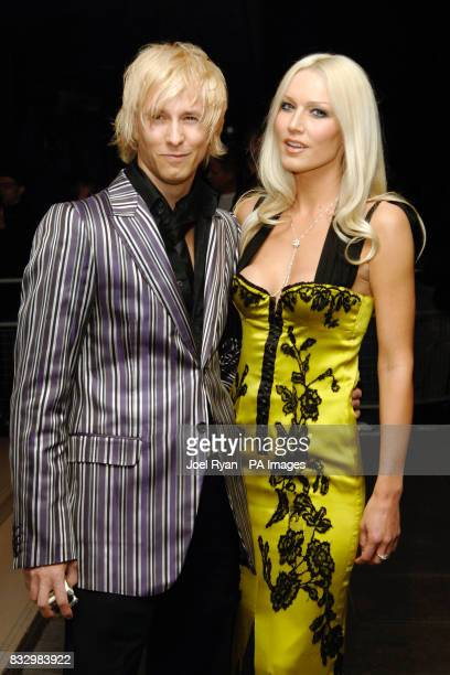 Rick ParfittJnr and Emma Noble arrives for the LaurentPerrier Pink Party in aid of Help A London Child at the Sanderson Hotel in central London