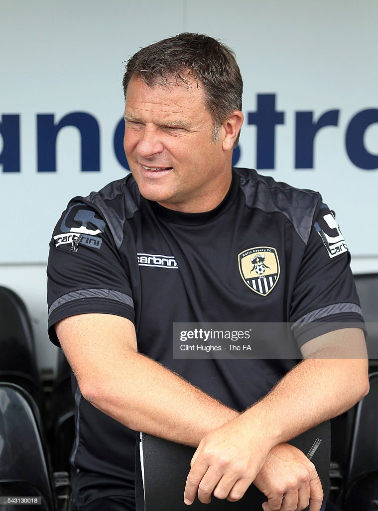 Rick Passmoor manager of Notts County Ladies FC looks on during the FA WSL 1 match between Notts County Ladies FC and Doncaster Rovers Belles at the Meadow Lane Stadium on June 26, 2016 in Nottingham, England