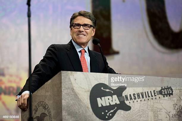 Rick Perry former governor of Texas speaks during the Leadership Forum at the 144th National Rifle Association Annual Meetings and Exhibits at the...
