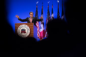 Rick Perry former governor of Texas speaks during the Republican Party of Iowa's Lincoln Dinner in Des Moines Iowa US on Saturday May 16 2015 Several...