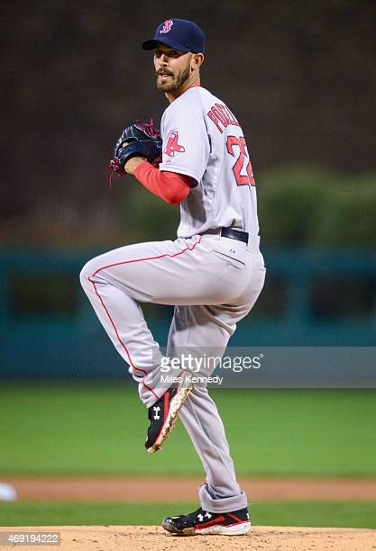 Rick Porcello of the Boston Red Sox pitches against the Philadelphia Phillies during the first inning on April 8 2015 at Citizens Bank Park in...