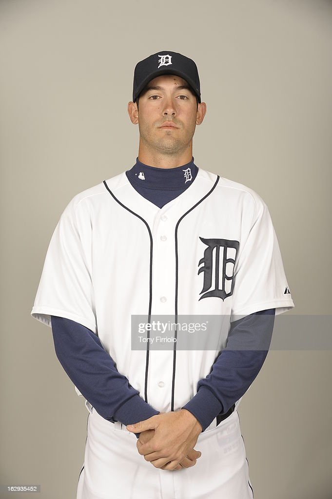 <a gi-track='captionPersonalityLinkClicked' href=/galleries/search?phrase=Rick+Porcello&family=editorial&specificpeople=4495644 ng-click='$event.stopPropagation()'>Rick Porcello</a> #21 of the Detroit Tigers poses during Photo Day on February 19, 2013 at Joker Marchant Stadium in Lakeland, Florida.