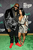 Rick Ross and fiancee Lira Mercer attend the BET Hip Hop Awards 2015 presented by Sprite at Atlanta Civic Center on October 9 2015 in Atlanta Georgia