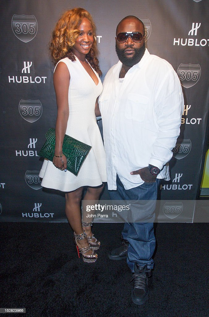 Rick Ross (R) and guest attend the Hublot Introduces The King Power '305' Timepiece at W South Beach Hotel & Residences on September 26, 2012 in Miami Beach, Florida.