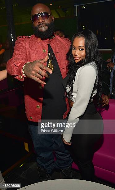 Rick Ross and Lira Galore attend Simong Gidewon's Birthday Celebration at Gold Room on March 19 2015 in Atlanta Georgia