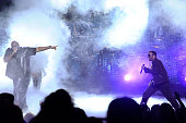 Rick Ross and Sean 'P Diddy' Combs perform onstage during the 2010 BET Awards held at the Shrine Auditorium on June 27 2010 in Los Angeles California