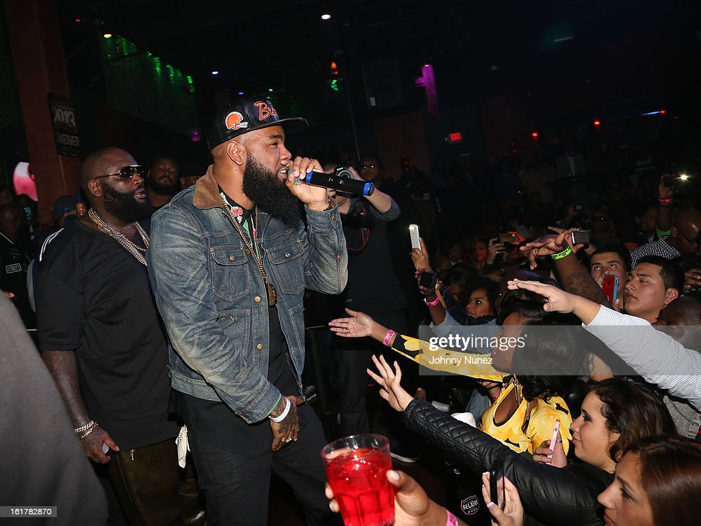 Rick Ross and Stalley perform at the Corzo presents NBA All-Star Weekend at Club Roxy on February 15, 2013 in Houston, Texas.