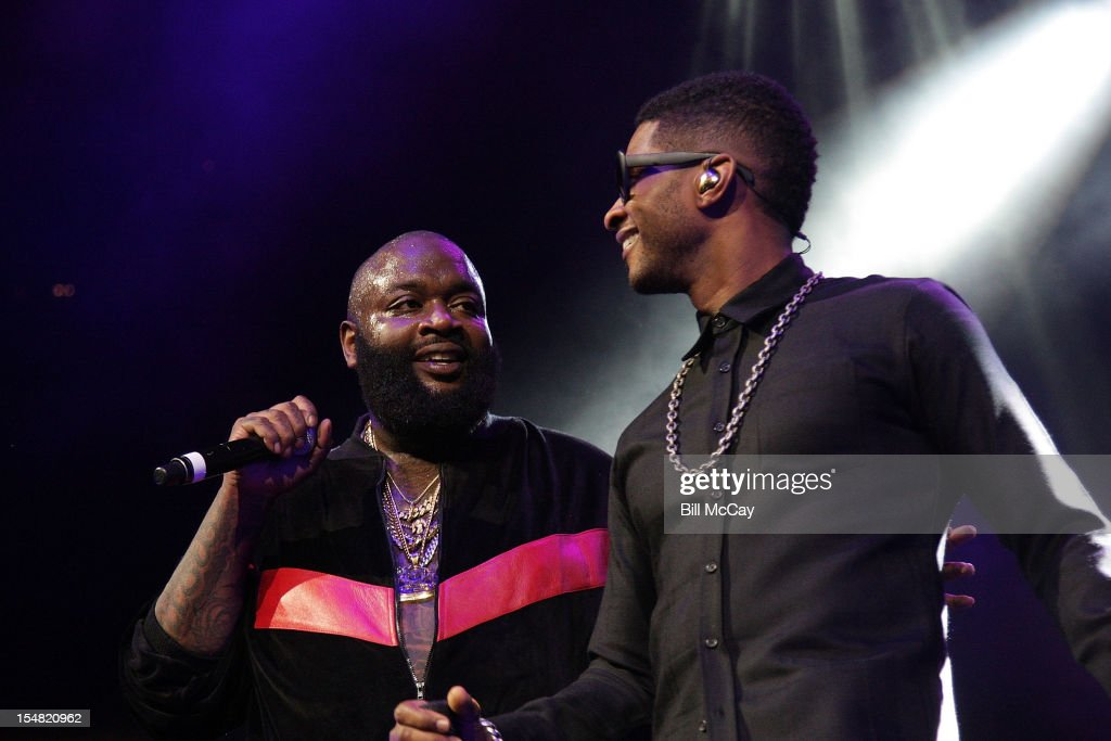Rick Ross and Usher perform at Power 99 Powerhouse 2012 at the Wells Fargo Center October 26, 2012 in Philadelphia, Pennsylvania.