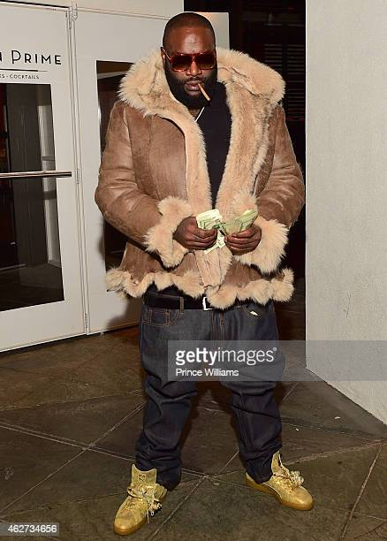 Rick Ross attends His birthday dinner at Ocean Prime on February 3 2015 in Atlanta Georgia