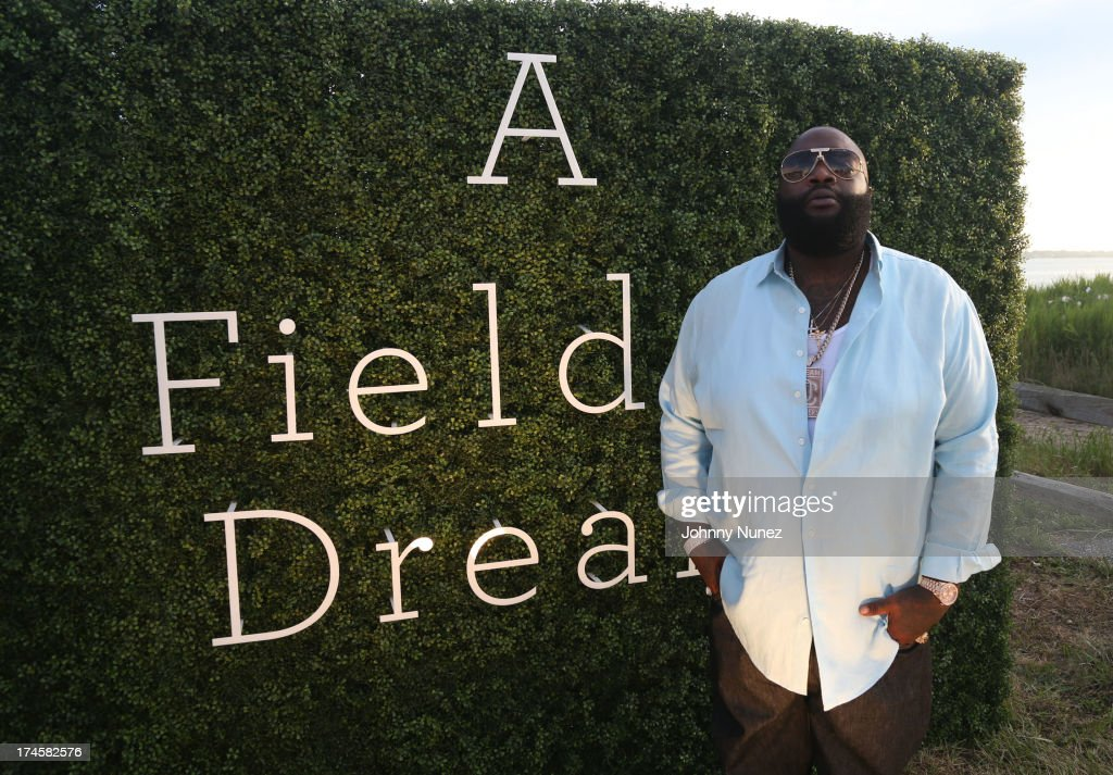 Rick Ross attends the 14th Annual Art For Life Gala: A Field Of Dreams at Fairview Farms on July 27, 2013 in Bridgehampton, New York.