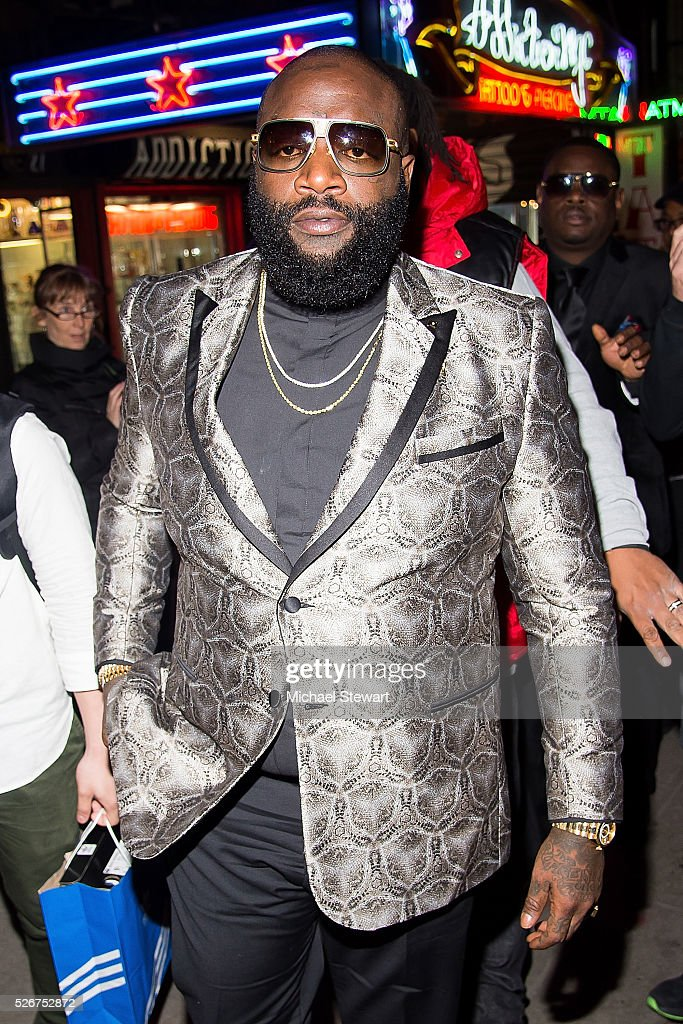Rick Ross attends the Vogue.com Met Gala cocktail party at Search & Destroy on April 30, 2016 in New York City.