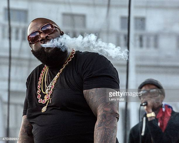 Rick Ross is a rapper that is performing at the annual 420 Pro Marijuana rall at the Civic Center in Denver Colorado on April 19 2015