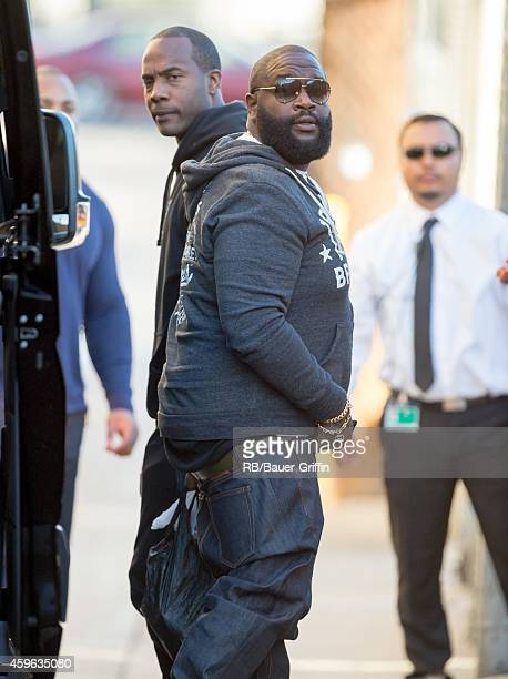 Rick Ross is seen at 'Jimmy Kimmel Live' on November 26 2014 in Los Angeles California