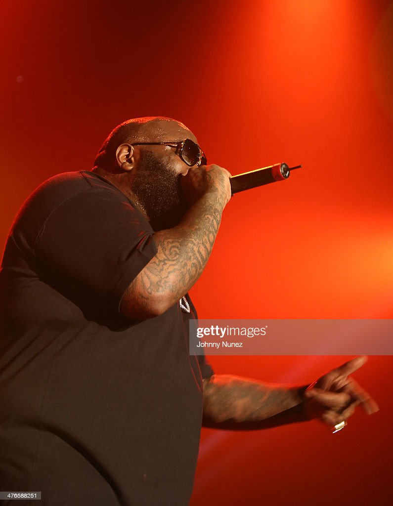 Rick Ross performs at Best Buy Theater on March 3, 2014, in New York City.