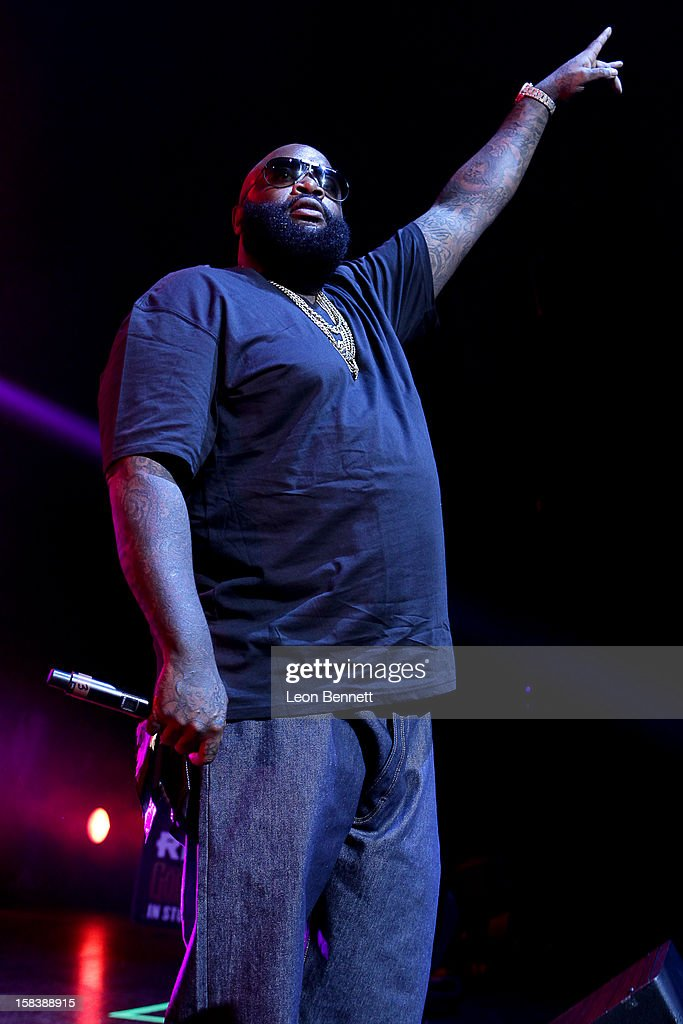 <a gi-track='captionPersonalityLinkClicked' href=/galleries/search?phrase=Rick+Ross+-+Rapper&family=editorial&specificpeople=11492924 ng-click='$event.stopPropagation()'>Rick Ross</a> performs at Power 106FM Presents CaliChristmas at Gibson Amphitheatre on December 14, 2012 in Universal City, California.