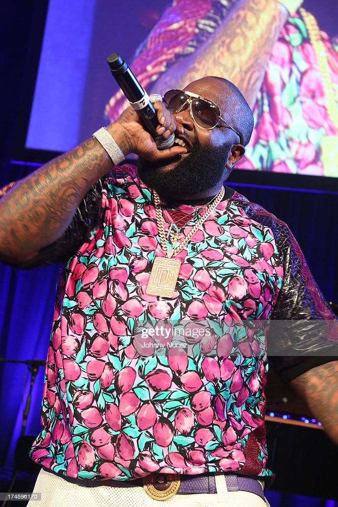 Rick Ross performs at the 14th Annual Art For Life Gala: A Field Of Dreams at Fairview Farms on July 27, 2013 in Bridgehampton, New York.