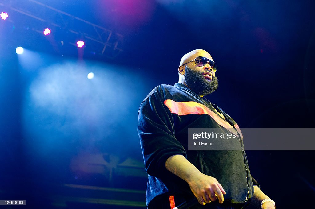Rick Ross performs at the Power 99 Powerhouse concert at the Wells Fargo Center on October 26, 2012 in Philadelphia, Pennsylvania.