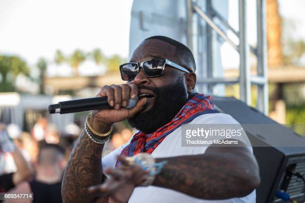 Rick Ross performs at the REVOLVE Desert House during Coachella on April 15 2017 in Palm Springs California on April 15 2017 in Palm Springs...